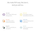 ブラウザ上でPDFファイルを簡単に変換できる「smallpdf」